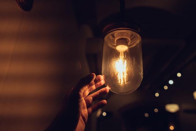 lysende lampe